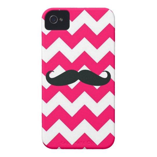 Case-Mate iPhone 4 Case -- Pink Chevron Moustache