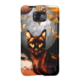 Case-Mate Spooky Halloween black cat & bats Samsung Galaxy S2 Cover
