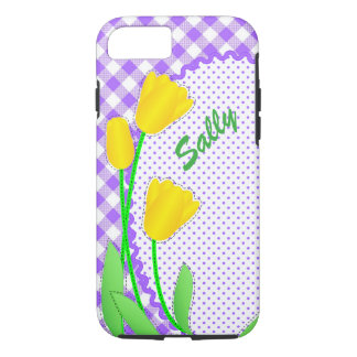 Case-Mate Tough iPhone 7 Case Yellow Tulips