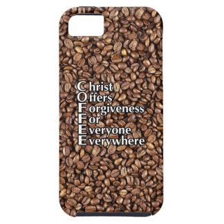 Case-Mate Tough iPhone SE/5/5S COFFEE Beans Christ Tough iPhone 5 Case