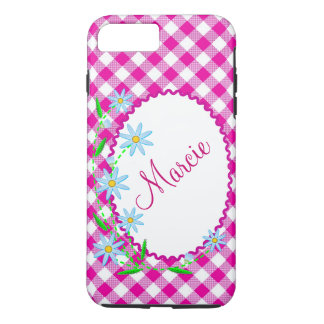 Case-Mate Tough Plus iPhone 7 Case Pink Gingham