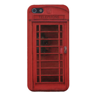 Case Savvy iPhone 5 Glossy: The red telephone box iPhone 5/5S Covers