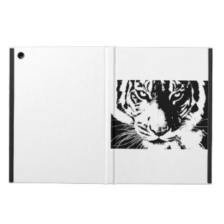 Case with a black and white print Tiger