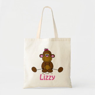 Case with own name - lief litte monkey - little budget tote bag