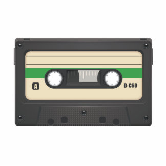 Casette Tape - Leaf Green Acrylic Cut Outs
