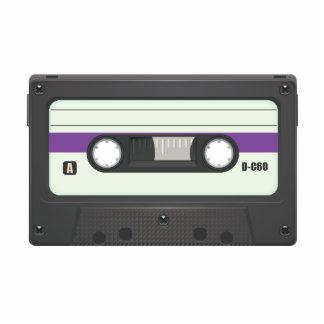 Casette Tape - Purple Photo Sculpture Key Ring