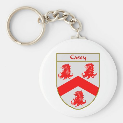 Casey Coat of Arms/Family Crest Keychain