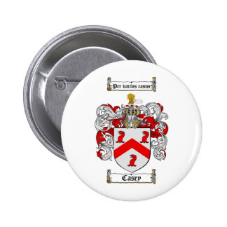 CASEY FAMILY CREST -  CASEY COAT OF ARMS 6 CM ROUND BADGE