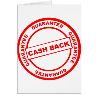 Cash Back Guarantee Card