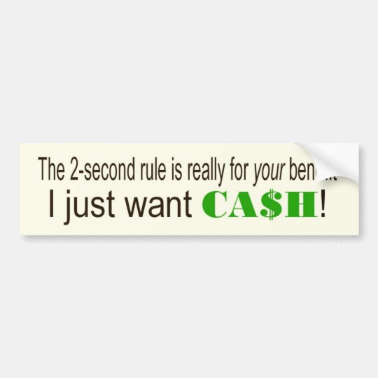 CASH BUMPER STICKER