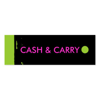 """""""CASH & CARRY"""" Hang Tag Business Card Template"""