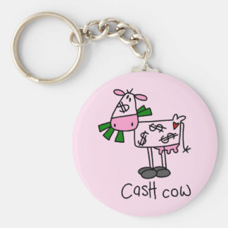 Cash Cow Tshirts and Gifts Basic Round Button Key Ring