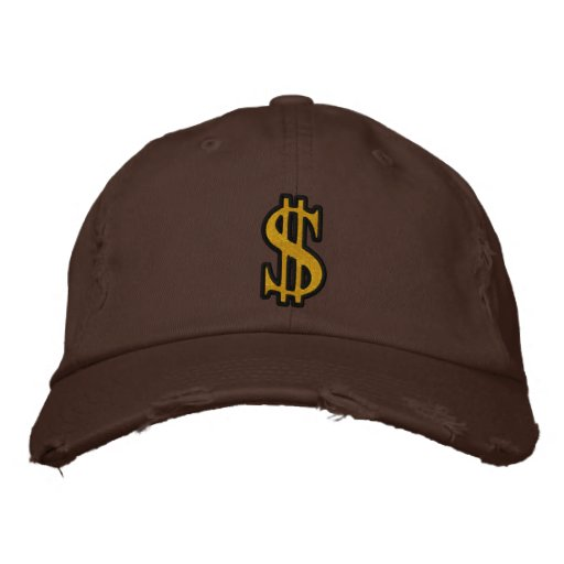 CASH DOLLAR SIGN Embroidered Cap Embroidered Baseball Cap