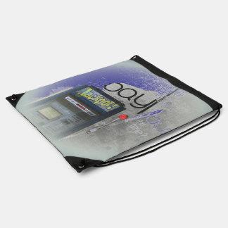 Cash Machine/Jackpot Machine - Blue Drawstring Bags
