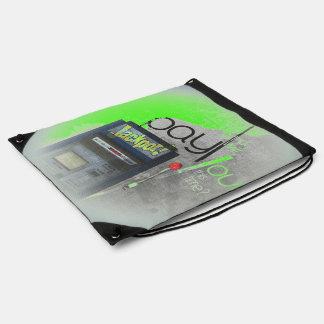 Cash Machine/Jackpot Machine - Green Drawstring Bags