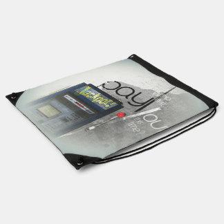 Cash Machine/Jackpot Machine (One-Armed Bandit) Drawstring Bags