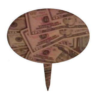 CASH MONEY CAKE PICKS