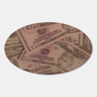 CASH MONEY OVAL STICKER