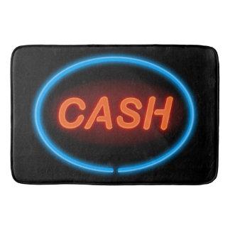 Cash neon. bath mat