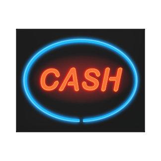 Cash neon. canvas print
