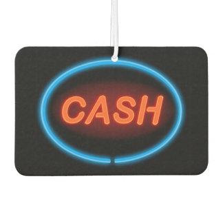 Cash neon. car air freshener