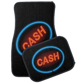 Cash neon. car mat
