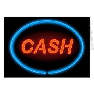 Cash neon. card