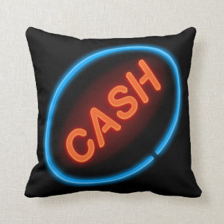 Cash neon. cushion