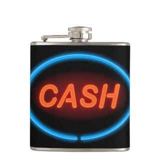 Cash neon. hip flask