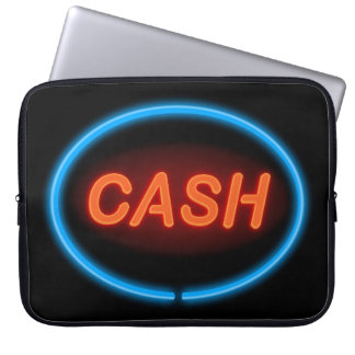 Cash neon. laptop sleeve