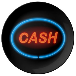 Cash neon. plate