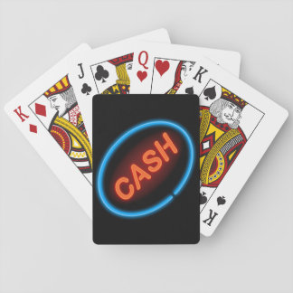 Cash neon. playing cards