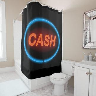 Cash neon. shower curtain