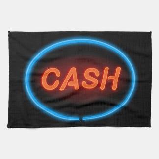 Cash neon. tea towel
