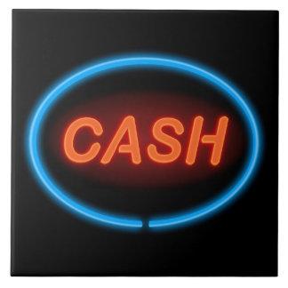 Cash neon. tile