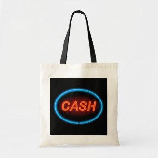 Cash neon. tote bag
