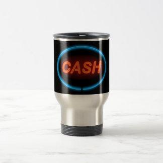Cash neon. travel mug