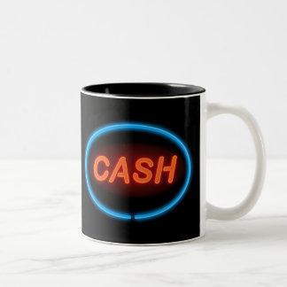 Cash neon. Two-Tone coffee mug