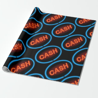 Cash neon. wrapping paper