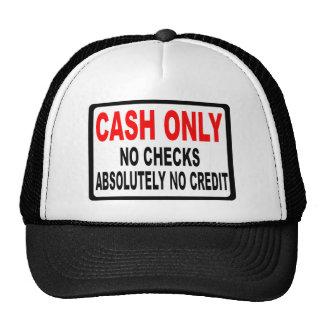 Cash Only No Checks Sign Cap