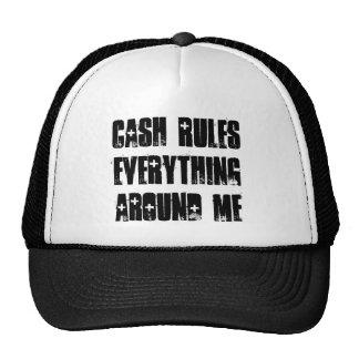 Cash Rules Snapback Blk/Wht Mesh Hat