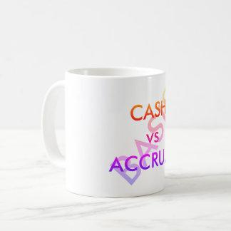 """""""CASH vs ACCRUAL Basis"""" Coffee Mug"""