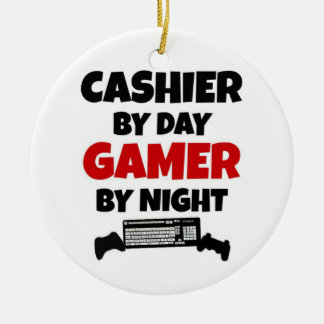Cashier by Day Gamer by Night Christmas Ornament