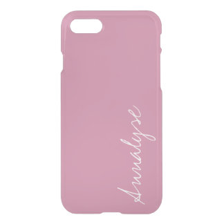 Cashmere Rose Soft Pink Solid Color Custom iPhone 7 Case