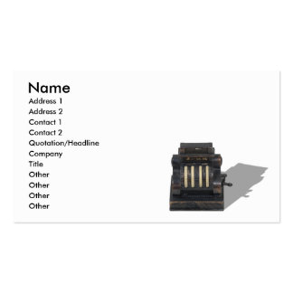 CashRegister091210, Name, Address 1, Address 2,... Pack Of Standard Business Cards