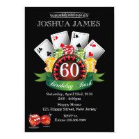 Casino 60th Birthday Invitation