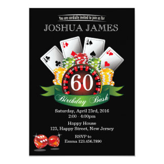 Casino 60th Birthday Invitation - any age