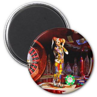 Casino art chess art paintings surrealism surreal magnet