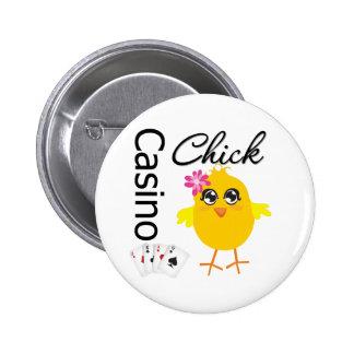 Casino Chick 6 Cm Round Badge