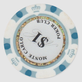 Casino Chip for Split coins, Super Triple etc Classic Round Sticker